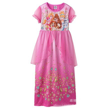 Perfect Quality Cinderella Belle Princess girls childrens kids dress summer short sleeve girl dresses fancy costume cosplay