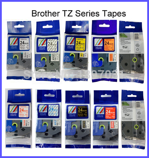 TZe 251 TZ 251 Black White Label Tape 24mm 26.2ft Compatible Brother P Touch 5PK