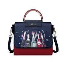 New Braccialini Style MUYU Brand Design Art Cartoon Five People Women Messenger Bag Female Shoulder Bags Lovely Totes Handbags