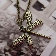 2016 New Game Movie necklace Jewelry song of ice and fire Stark vintage dragonfly pendant for women wholesale