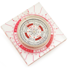 Feng shui   Chinese Ancient Plexiglass  Luopan Compass Elaborate Round Luo Pan home decoration accessories
