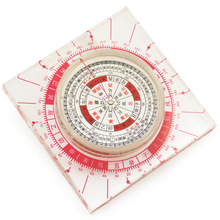 Feng shui Chinese Ancient Plexiglass Luopan Compass Elaborate Round Luo Pan home decoration accessories(China)