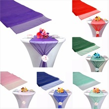 25pieces Organza Table Runners 30x275cm Wedding Party Banquet Decoration events supplies party decoration 30 Colors(China)