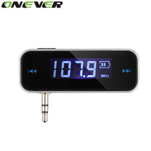 Onever Wireless FM Transmitter 3.5mm In-car Music Audio FM Modulator For iPhone 4 5 6 6S Plus Samsung iPad Car MP3 Transmitter(China)