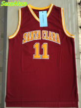 2017 SexeMara Mens College Cheap Basketball Jerseys #11 Steve Nash Jersey Santa Clara Retro Stitched Throwback Basket-ball Shirt