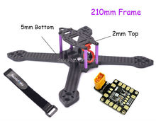Mini X5 iX5 true X 210mm 210 5mm Bottom 2mm top Plate Carbon Fiber Frame Kit PDB XT60 Board For RC Racing Drone RD-210