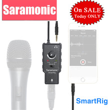 Saramonic XLR Karaoke Microphone Preamplifier Audio Adapter for Apple iPad iPhone 7 6 Plus Smartphone Camera Camcorder Guitar