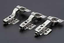 50PCS Hinge Rustless Iron Hydraulic Hinge Iron Core Damper Buffer Cabinet Cupboard Door Hinges Soft Close Furniture accessory