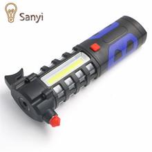 Sanyi 1*COB+16*LED 3 Modes Flashlight Car Emergency Tool 800 Lumens Super Bright Torch Light With Magnet Power By 3*AA Batteries