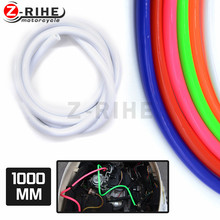Motorcycle Fuel Gas Line Hose pink Tube Motorcycle Rubber Fuel Line for motorcycle motocross ATV pit dirt bike off road(China)