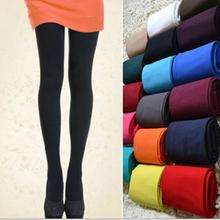 2017 New Hot Sell Women's Sexy Elastic Footed Thick Opaque Stockings Pantyhose Solid Color Tights 5 Colors(China)