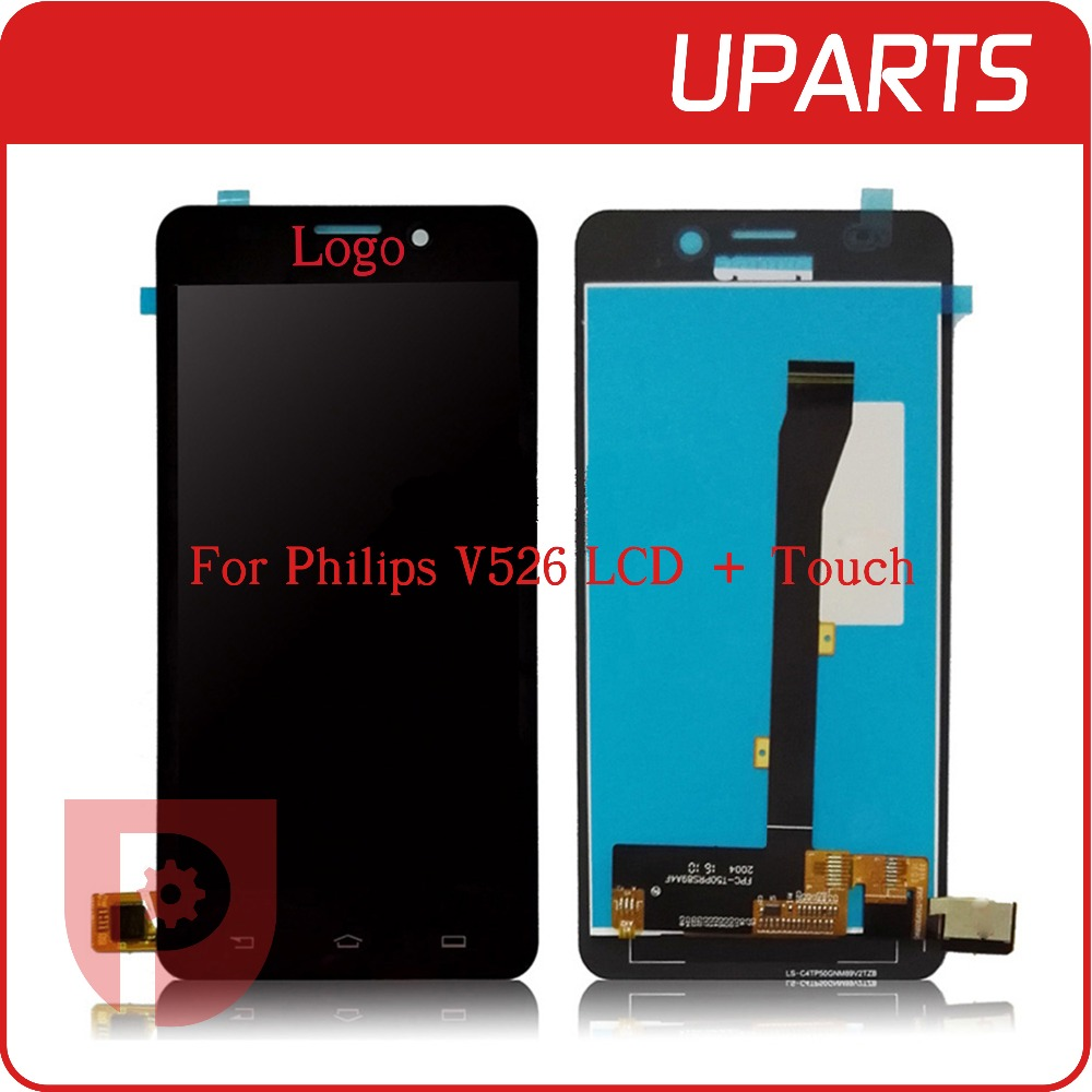 100% Tested Brand New For Philips V526 LCD Display + Touch Screen Assembly LCD Digitizer Glass Panel Replacement<br><br>Aliexpress