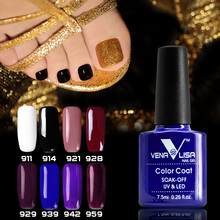 Fast dry foot color Manicure Venalisa Cosmetic gel polish shiny glitter pearl color soak off led long lasting nail uv gel polish