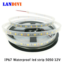 IP67 Waterproof LED Strip lights outdoor 5050 flexible light 5m 300Led DC 12V RGB Silicone waterproof cannula work in the water(China)