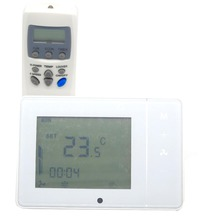 4 pipes IR remote controllable digital temperature controller thermostat with programmable  7 x 24