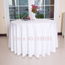 Free Ship Via DHL / Fedex / UPS / TNT Custom Factory Round 200-300cm Polyster White tablecloths( Price not right ,Pls contact)