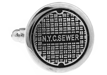 Sunnylink Men's Cuff Links New Black Silver manhole cover Cufflinks for shirt  L1449