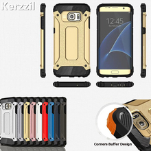 2 in 1 PC+Silicone Armor Case For Samsung Galaxy S8 Plus S7 edge S6 Edge Hard Phone Case For Galaxy Note 5 S7 S6 edge Back Capa