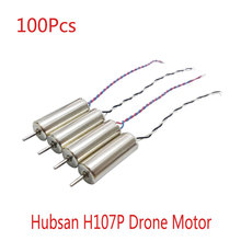 Wholesale 100pcs Hubsan Motor parts of H107P rc helicopter Mini toy spare parts quadcopter Engine Accessories(China)