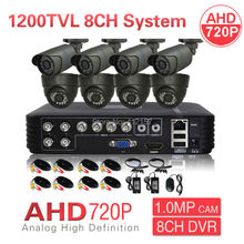 CCTV 1080N HDMI DVR AHD 720P 8CH Security Camera System IR Color Video Surveillance Kit P2P PC Phone MobileView Motion Detection