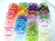 "Vintage Lace Pearl Center Flower,perfect for girl Hair Accerssiory 3.5~4"" in width 28 colors 240pcs/lot(China)"
