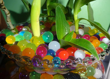 1000 pcs big bubble beads crystal mud, marine baby, soil water beads hydrogel ball bio flower / weed / Decoration(China)
