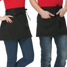 Universal Appron Kitchen Chef Half Short Waist Bib Durable Anti-fouling Stripe Solid Color Kitchen Cooking Cafe Pinafore Aprons(China)