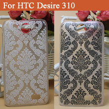 High quality Luxury Cover For HTC Desire 310 D310W Hard Cover Case Black & White Paisley Vintage Flower Case For HTC 310 D310W