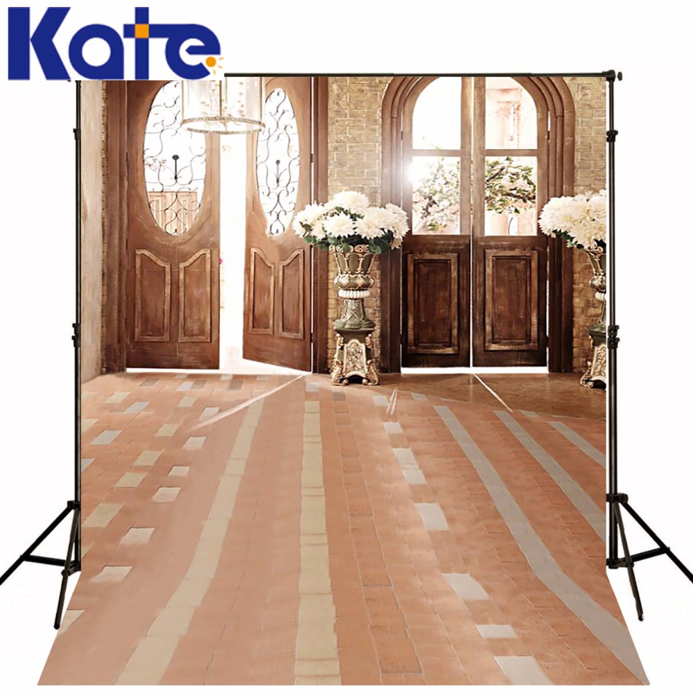 KATE Photography Backdrops Vintage Wedding Backdrop White Flower Background Soild Carpet Indoor Backdrops Children Backdrop<br>