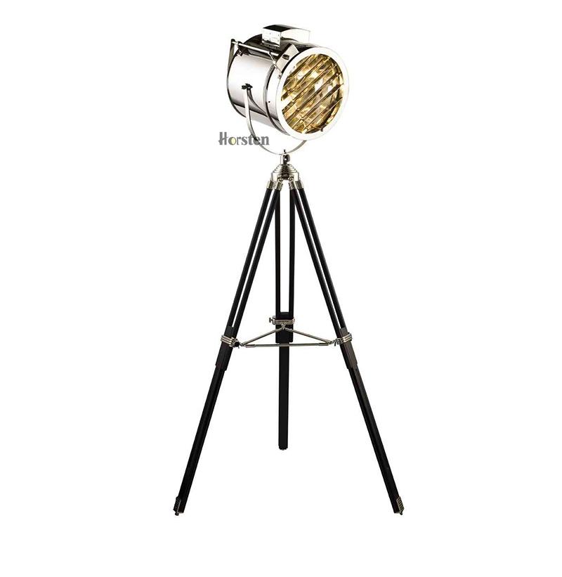 Industrial Bar Nordic American Creative Studio Silver Golden Floor Lights Tripod Searchlight Floor Lamps E27 (12)