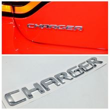New Silver Charger Letters Emblem Sticker Car Rear Trunk  Badge Decal For Dodge Charger SRT SRT-4