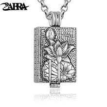 ZABRA Genuine 925 Sterling Silver Buddha Pendant Necklace For Men Vintage Wish Totem Prayer Box Mens Pendants Jewelry Making(China)