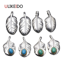 Pure 925 Sterling Silver Pendant Fashion Charms Necklace Takahashi Goros Eagle Feather Chain Inlaid Jewelry Birthday Gift 192