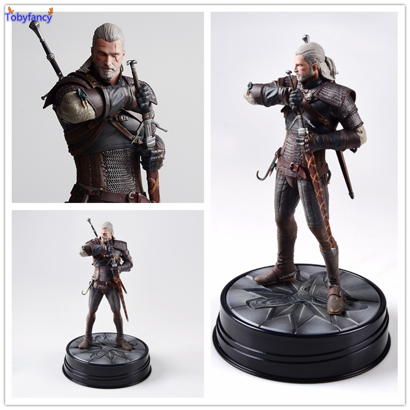 The Witcher 3 - Wild Hunt: Geralt Figure Dark Horse Deluxe The Witcher PVC Game Figure Collection Model Toy<br>