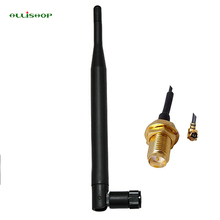 ALLISHOP RP-SMA Male 868 MHz 5dBi Wireless Antenna , 868 MHz Router Antenna + 15cm RP SMA Female to IPX 1.13 Cable(China)