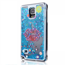Note 4 Cute Liquid Glitter Sand Star Case Fundas For Samsung Galaxy Note 4 N9100 Crystal Clear phone Back Cover Coque Quicksand