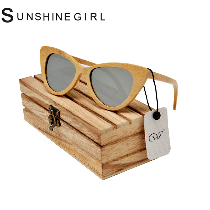 sport wooden glasses Cat Eyewear Sunglasses Men Women summer style Bamboo Wooden Sunglasses Polarized wood case <br><br>Aliexpress