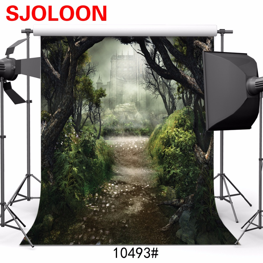 Forest Castle background Fantasy Fairy Tale photography background Fond studio photo vinyle  Photography-studio-backdrop 3x3m<br><br>Aliexpress