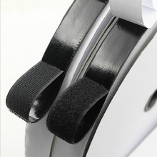 2 Rolls 5m Self Adhesive Tape Black Hook and Loop  Sticky Back Tape Fabric Fastener Adhesive Fastener Tape