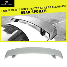 FRP Unpainted Grey Primer Rear Trunk Spoiler Universal Auto Boot Lips For Audi  TT 8J TTS A5 A6 A7 All 07-13