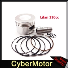 52mm Piston 13mm Pin Ring Set Kit For Chinese Lifan 110cc Engine Pit Dirt Trail Motor Bike ATV Quad 4 Wheeler Motorcycle(China)