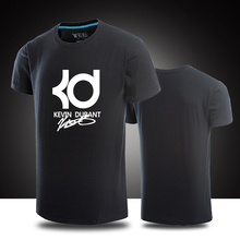 Kevin Durant T-Shirts Cotton short sleeve t-shirt KD signature t shirt  Durant Jersey Summer Men top Shirts