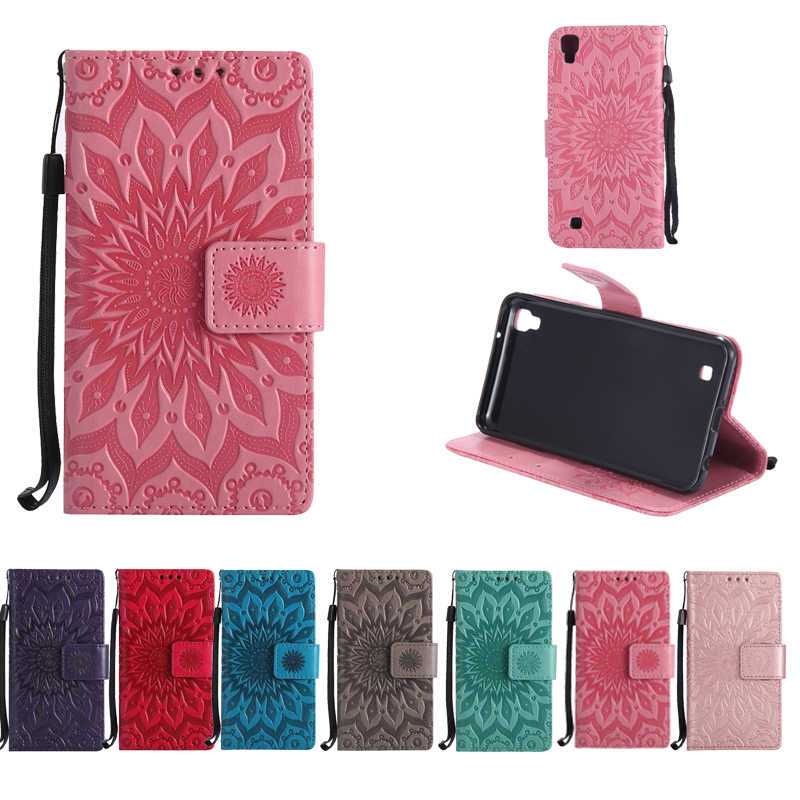 PU Leather Sunflower Case for fundas LG X Power Case for LG X Power / LG Leon Spirit Magna G3 G4 G5 G6 Q6 Q8 Case + Card Holder
