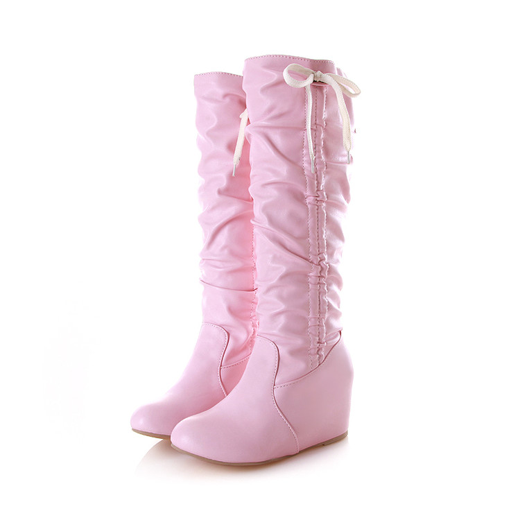 Big Size 34-43 Over the Knee Boots for Women Sexy High Heels Long boots Winter Shoes Round Toe Platform Knight Boots  328<br><br>Aliexpress