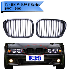 2PCS Gloss Black Kidney Grills Front Grille For BMW E39 525i 528i 530i 535i 540i M5 1997 - 2003 Car Styling Accessory #P215