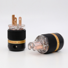 Pair Viborg X HiFi audio Transparent copper  Plated US Power cord plug American Japan Power cable Extension adapter Plug
