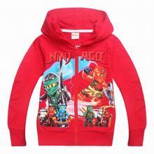 Dgfstm 4-9Years Cartoon Ninjago Children Boys Outerwear Coat Spring Autumn Baby Kids Boys Girls Hooded Coats Cabritos Ropa