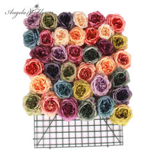 11pcs artificial decorative peony heads simulation tea rose DIY silk flower head for wedding home party decoration painting