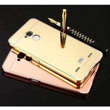 For ZTE Blade V7 Lite case Luxury Aluminum Frame Mirror Armor Back Cover Case for ZTE Blade V7 Lite capa fundas conque