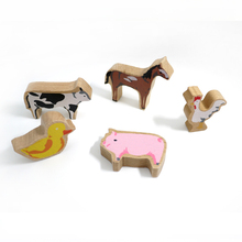 x28 Horse cow pig duck chicken 5pcs a set of high-quality animal scene train track Thomas train track essential accessories